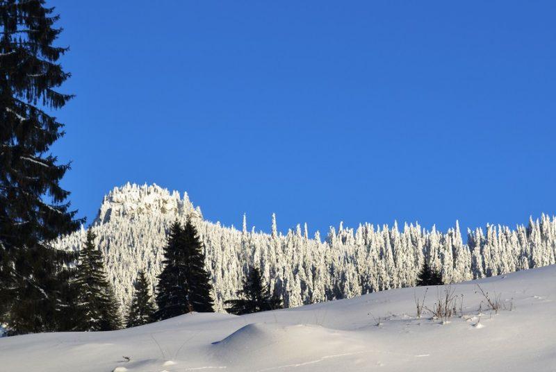 Kecskekő látképe télen
